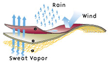 "<span class=""membersonly""></span> The Science of Breathability and Its Impact on Raingear Selection and Use"
