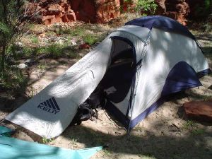 kelty flight 2 tent - field shot