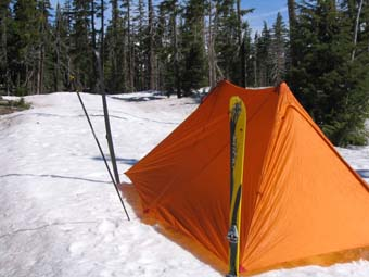MSR Twin Peaks Shelter - taut good pitch