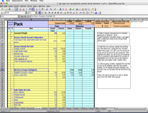 2005 Backpacking Light Trip Planning Spreadsheet Contest Entries - 7