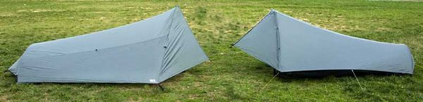 Comparison of Tarptent Squall 2 and Six Moon Designs Europa 2005 - 1