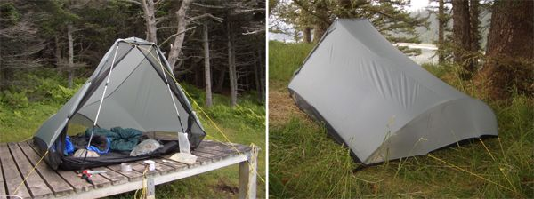 Comparison of Tarptent Squall 2 and Six Moon Designs Europa 2005 - 3