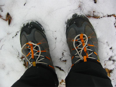 Podcast: Report from a Snow Covered Trail - Field Test Results of Low Gore-Tex Shoes, Wool Socks and Gore-Tex Socks in Near Freezing Conditions  - 1
