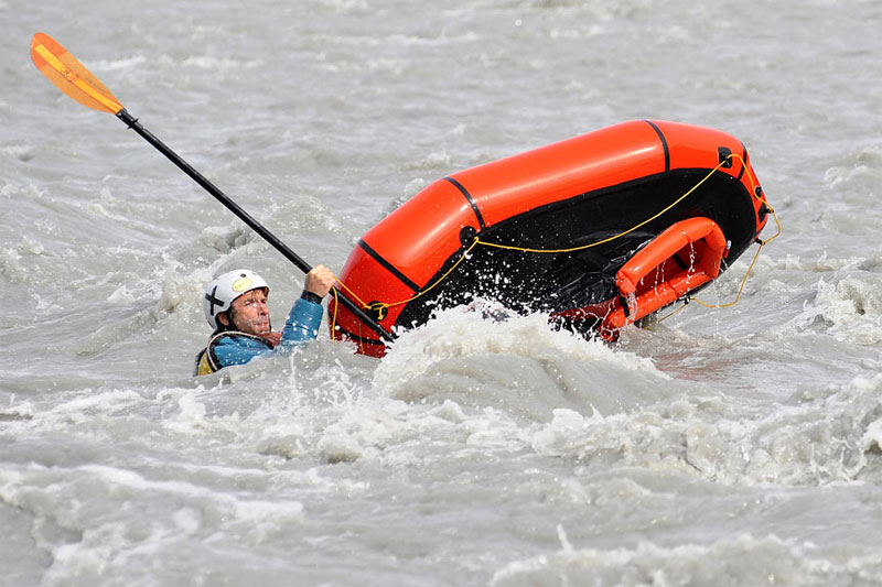Packraft Wet Reentry Photo Demo - 2