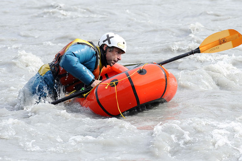 Packraft Wet Reentry Photo Demo - 3