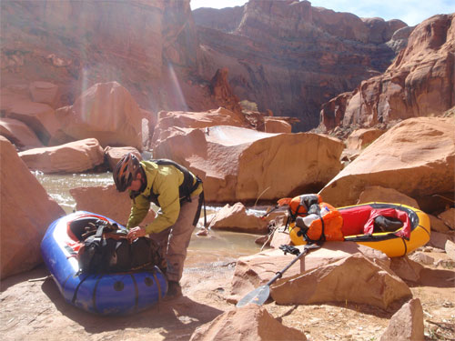 Packrafting Utahs Escalante River in Late March - 5