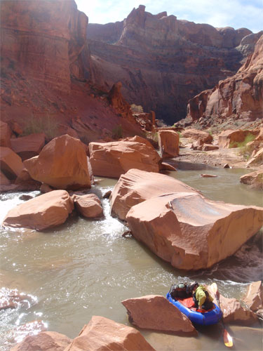 Packrafting Utahs Escalante River in Late March - 6