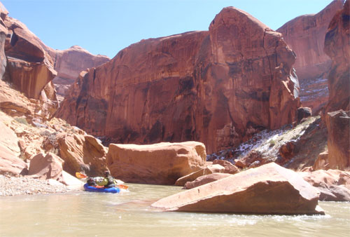 Packrafting Utahs Escalante River in Late March - 7