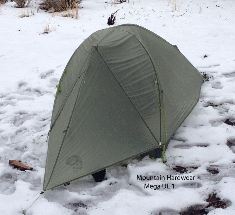 Mountain Hardwear Mega UL 1 in snowy conditions. & Freestanding Double Wall Tents - A Cursory Review of 1P/2P ...