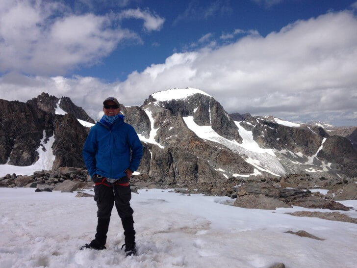 Top Bonney Pass, Patagonia Houdini Jacket, Gannett Peak, Wyoming, Background, 2015 Backpacking Light Staff Favorite Gear