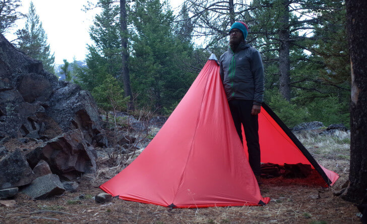 Dave Chenault Camping, Seek Outside BT2 Shelter, 2015 Backpacking Light Staff Favorite Gear