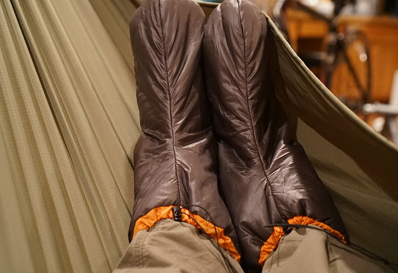Relaxing Hammock, Greg Allen, Roger Caffin Enlightened Equipment Booties Community Review