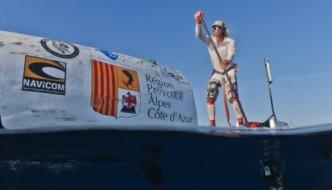 Nicolas Jasarray practicing for his transatlantic expedition. Photo courtesy of Nicolas Jasarray.