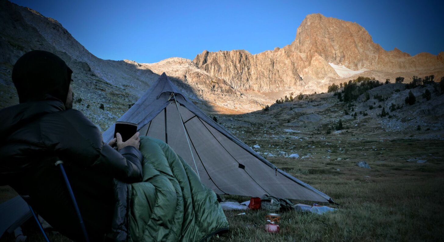 Ryan Jordan, Helinox Ground Chair, Sierra Nevada Sunrise, 2015 Backpacking Light Staff Favorite Gear