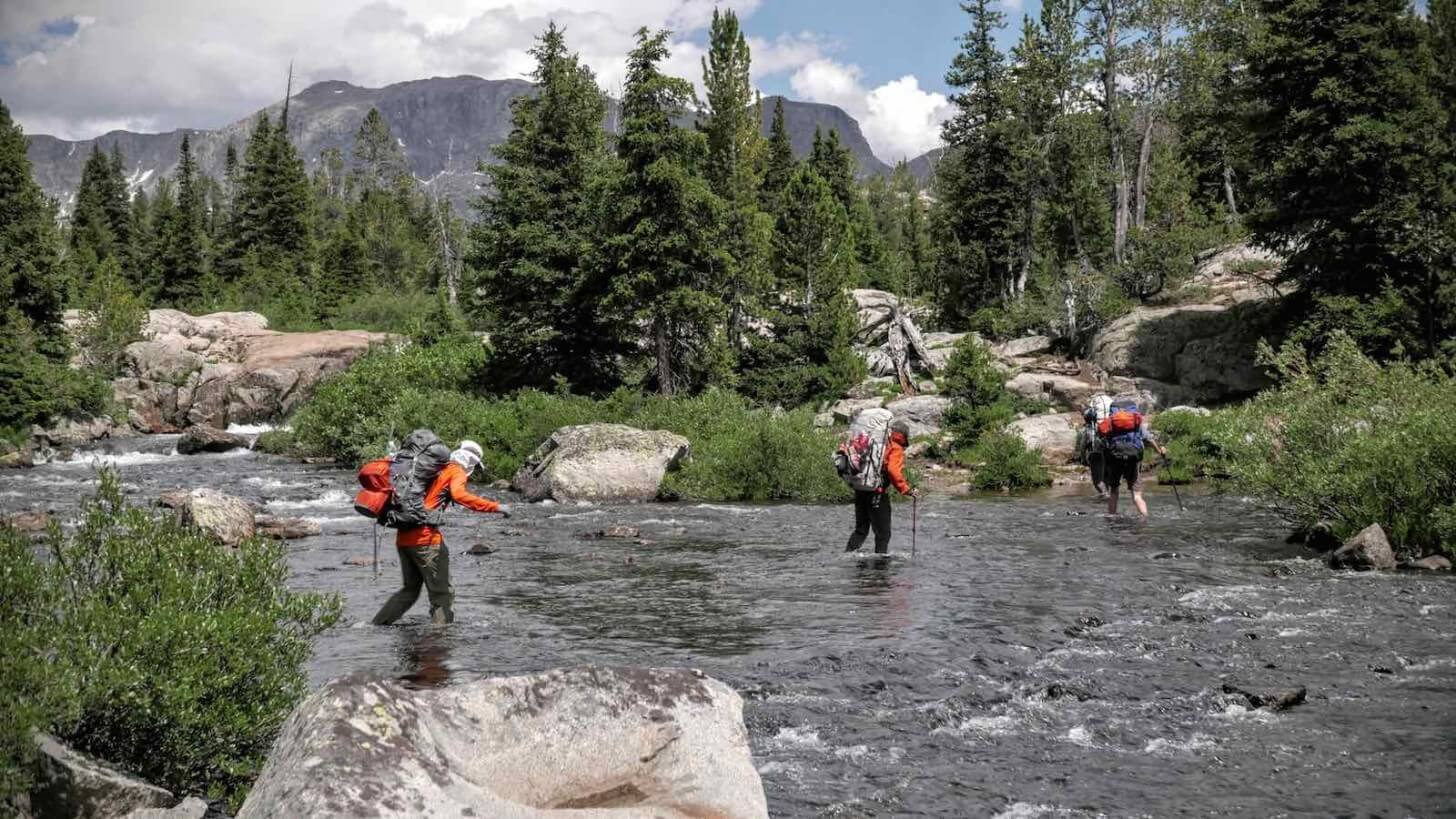 Stream Crossing Pole Creek Crew One Wind Rivers Summer 2015 Expedition
