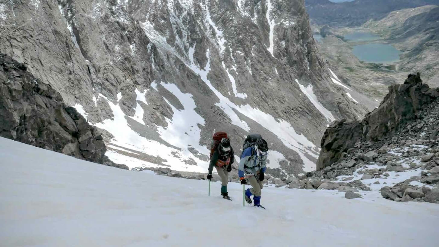 Climbing Bonney Pass Crew One Wind Rivers Summer 2015 Expedition