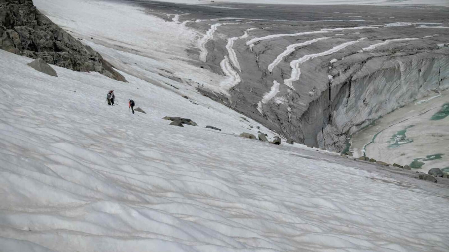 Klondike Glacier Below Pedastal Peak Crew One Wind Rivers Summer 2015 Expedition
