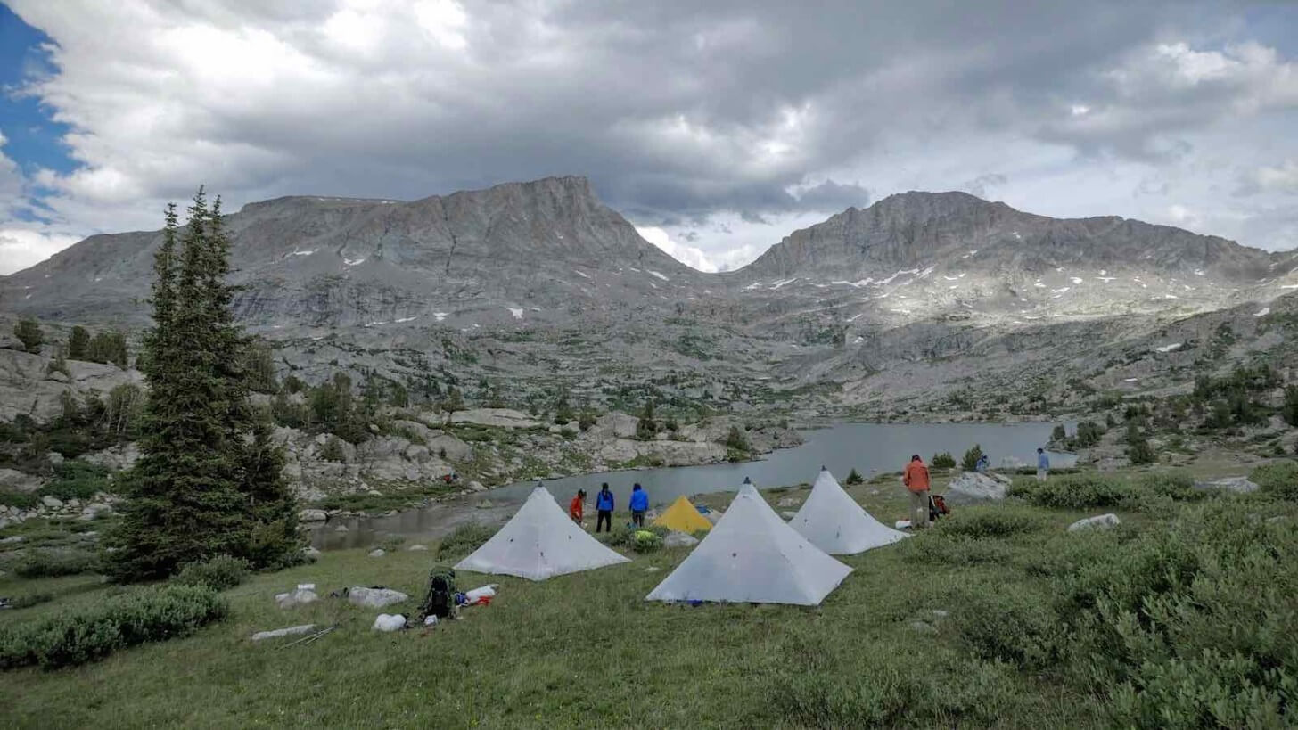 Camp Spider Lake Bald Mountain Basin HMG UltaMid 4's Crew One Wind Rivers Summer 2015 Expedition