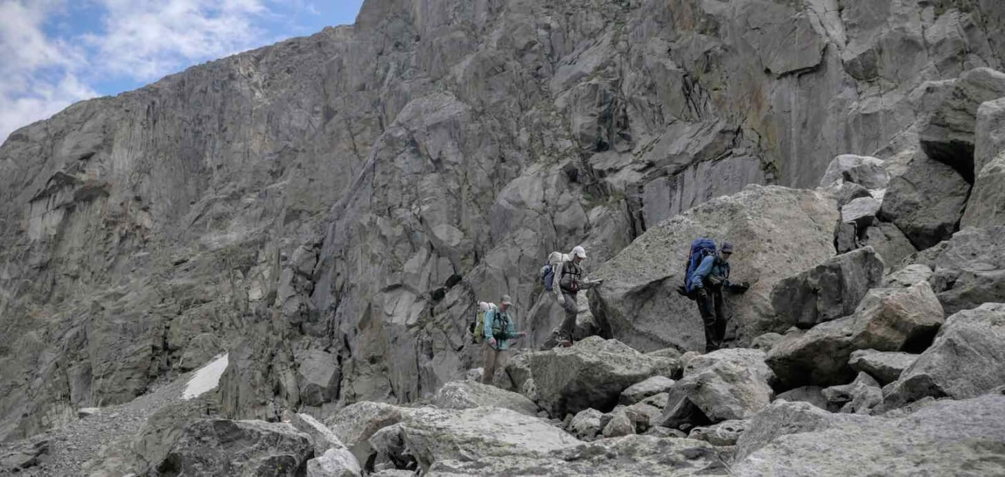 Big Talus Above Green River Crew One Wind Rivers Summer 2015 Expedition