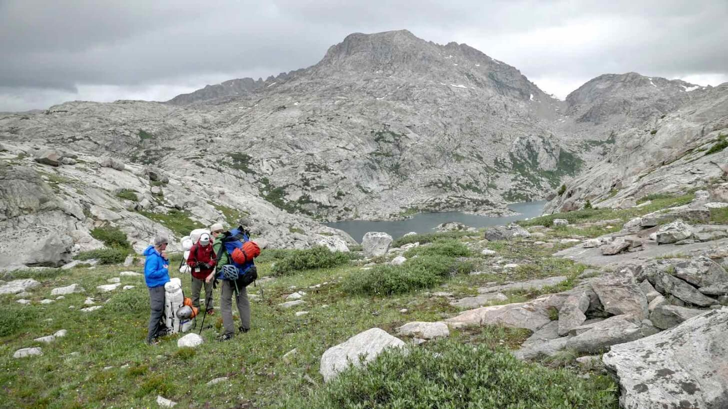 Off-trail Tundra Traverse Between Bald Mountain Basin Wall Lake Crew One Wind Rivers Summer 2015 Expedition