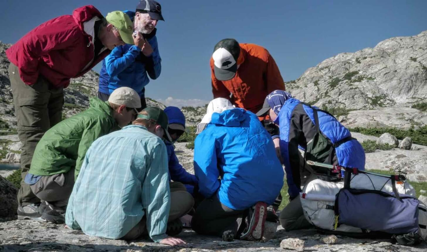 Navigation Meeting Wall Lake Crew One Wind Rivers Summer 2015 Expedition