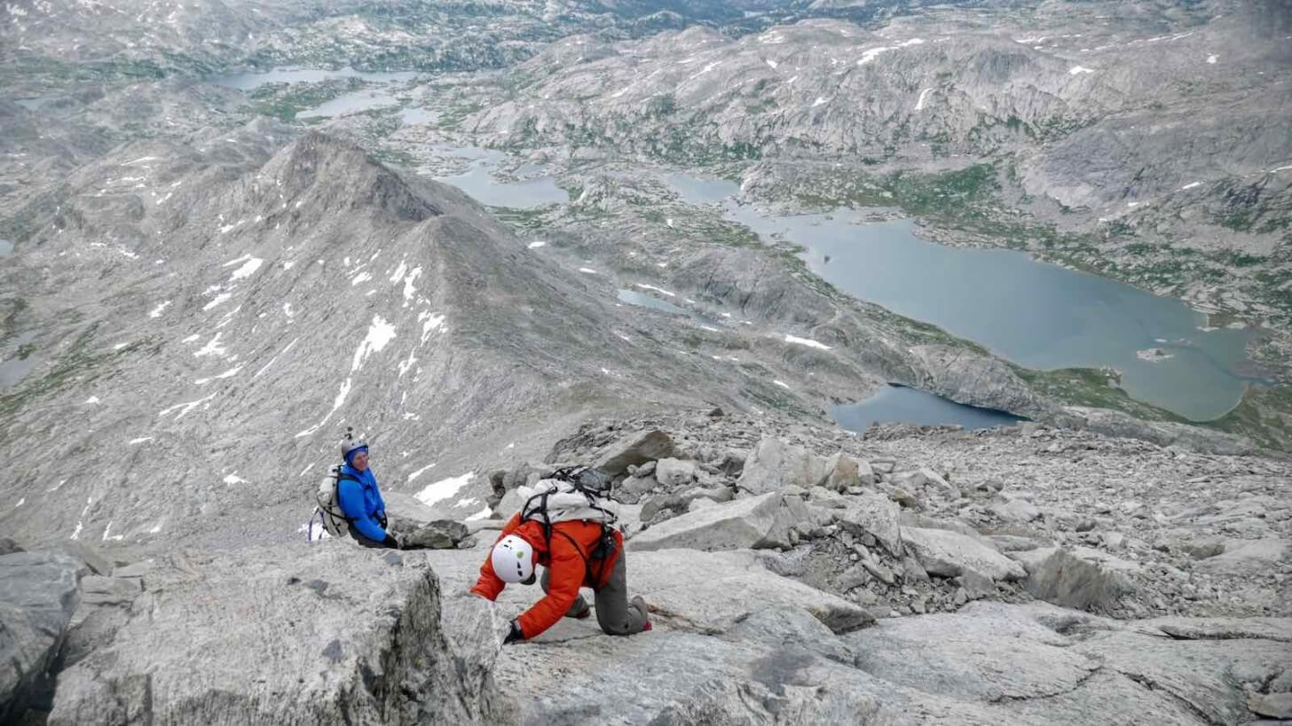 Climbing Class 3 Fremont Peak Crew One Wind Rivers Summer 2015 Expedition