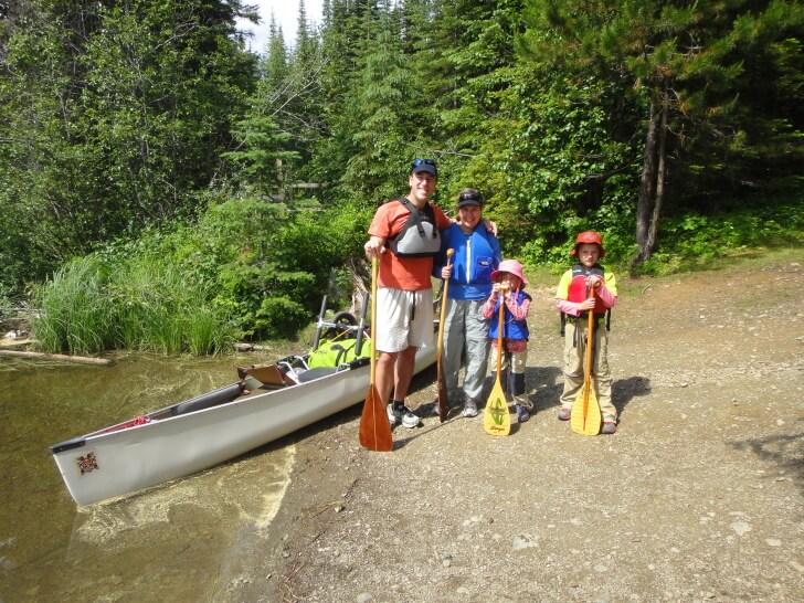 Kibbe Lake, Doug Johnson Family Canoeing Bowron Lakes