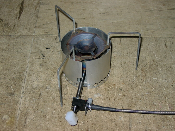 Early MYOG Vortex Burner Stove, Roger Caffin MYOG Vortex Burner Ultralight Winter Stove System Part 1