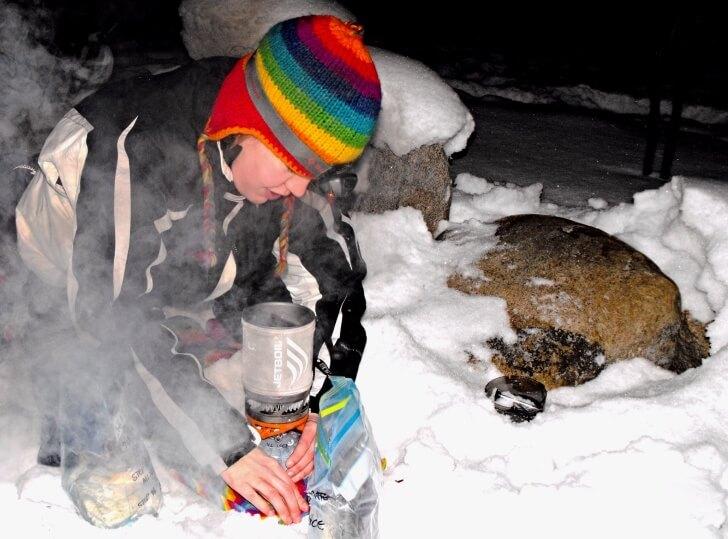 Cooking, Winter, VanderVelden Customized Backpacking Food