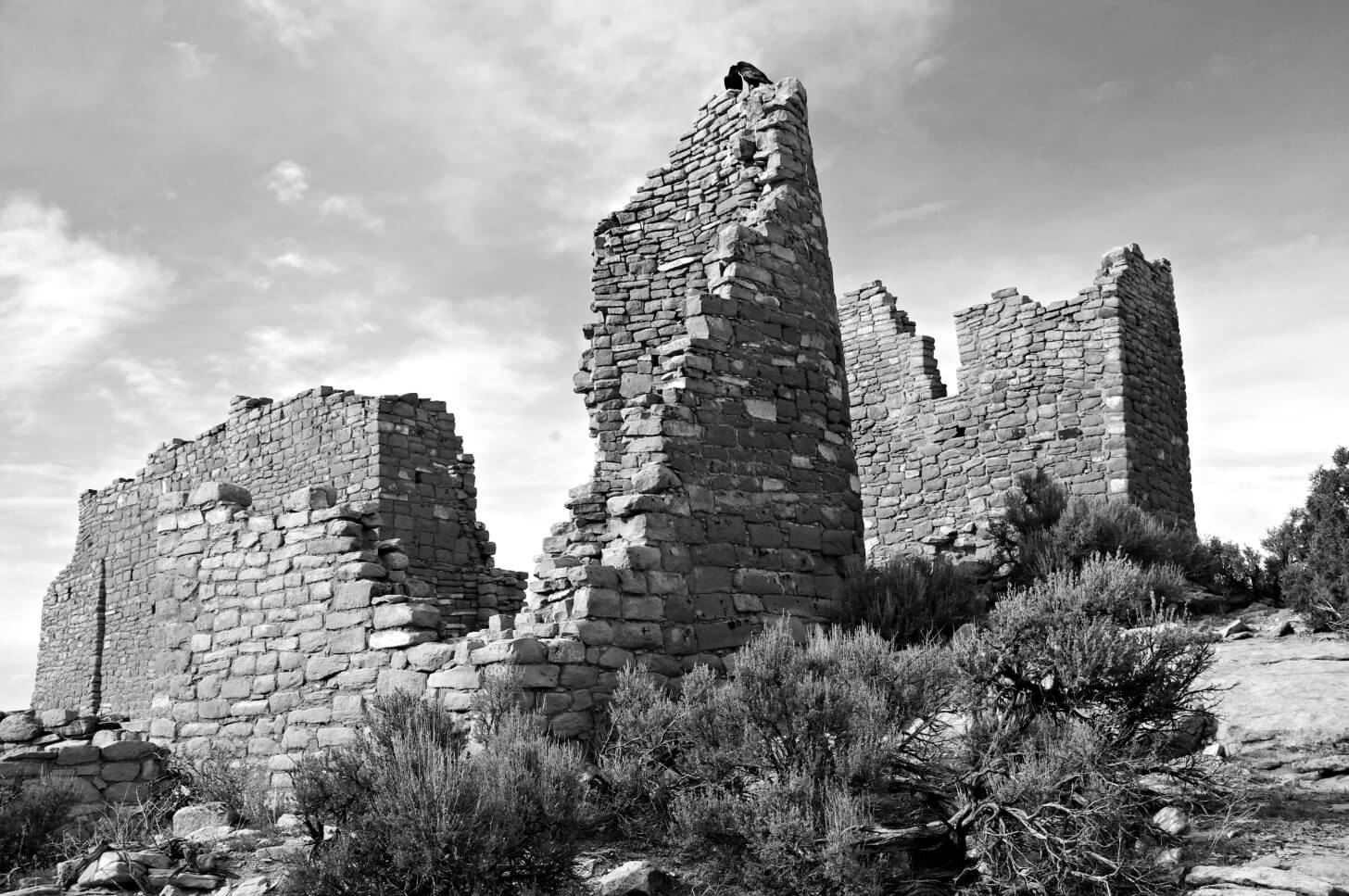 Ancient Pueblo Ruins, Hovenweep National Monument, Colorado and Utah Border, Faces Interview Paul Magnanti