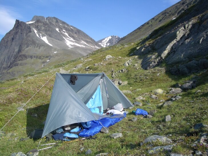 Sunny Morning, Home-Made Tent, Near Mt. Kebnekaise, Swedish Lapland, Jorgen Johansson Base Layer Article