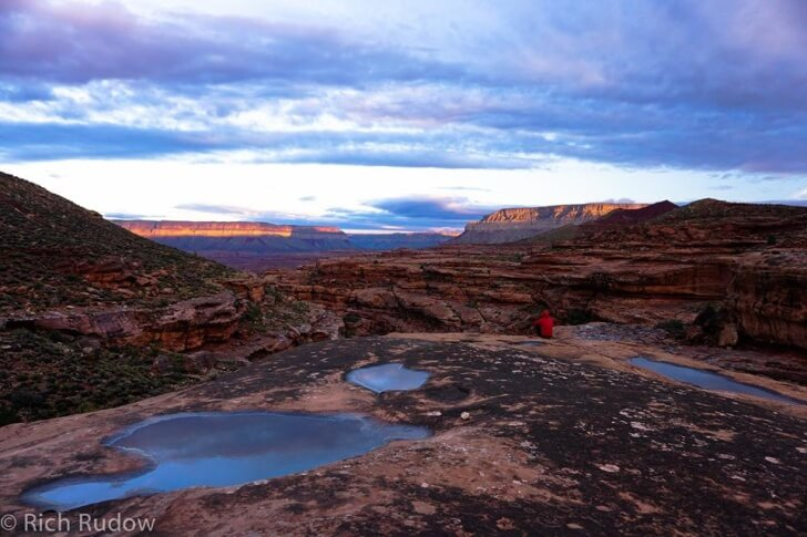 Early Morning, Rattlesnake Canyon, Rudow Grand Canyon's Rim Traverse News Story