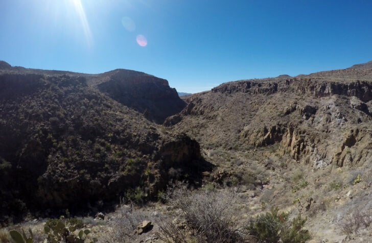 Canyon, Steep Ridge, Rancherias Loop Trail Schmidt