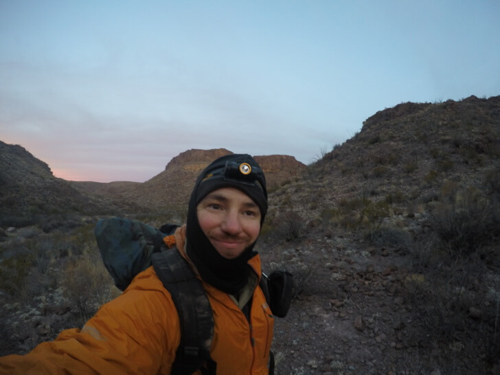 Early Morning Selfie, Rancherias Loop Trail Schmidt