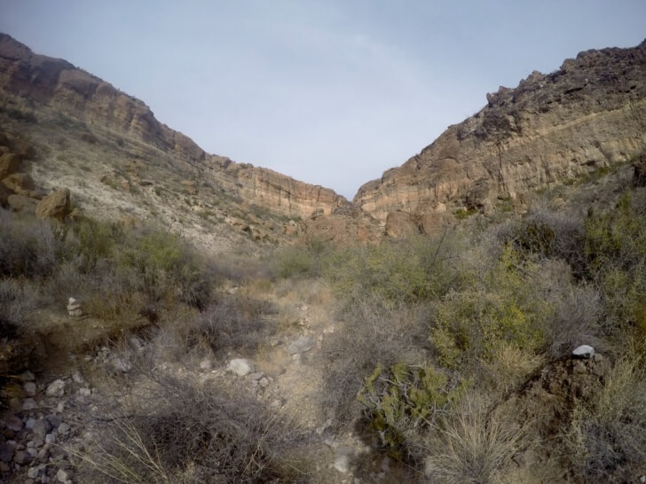 Sheer Cliffs, Rancherias Loop Trail Schmidt