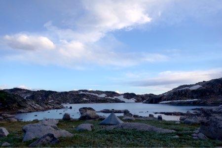 Camp at Desolation Lake.