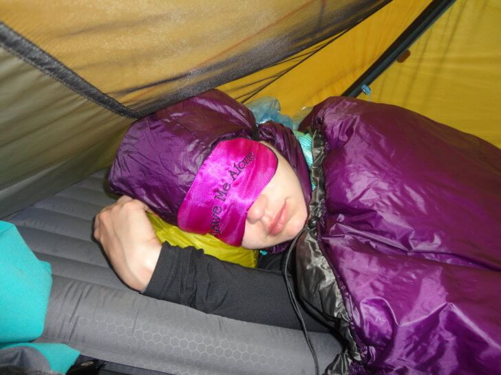 Backpacking the Marvel Pass Trail - sleeping in an Englightened Equipment Prodigy Quilt.