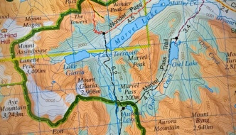 Mount Assiniboine Map