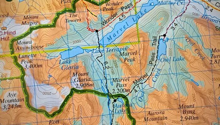 Mount Assiniboine Map