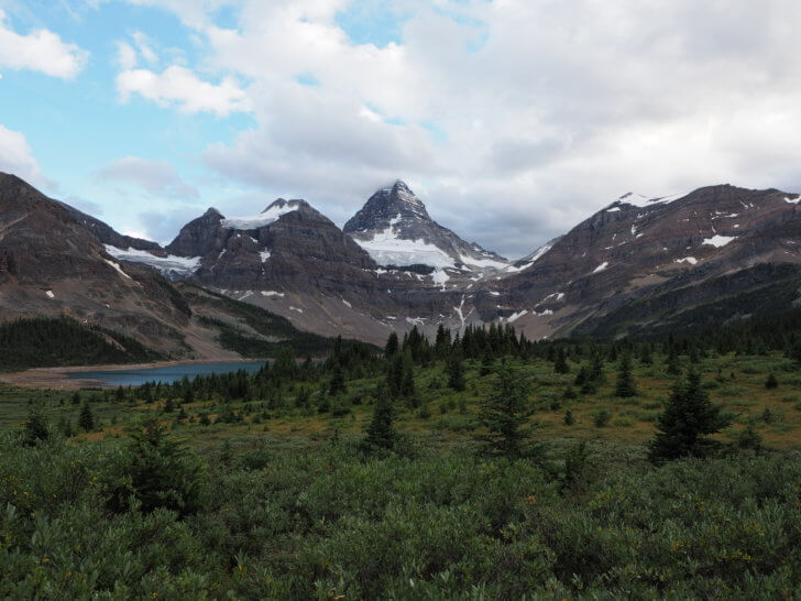 Mount Assiniboine as approached from Marvel Pass.