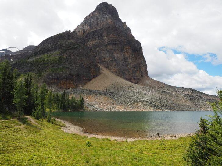 Backpacking Mount Assiniboine: Sunburst Lake and Wedgewood Peak.