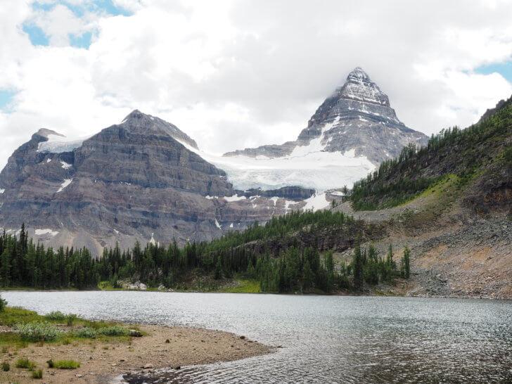 Backpacking Mount Assiniboine: Cerulean Lake.