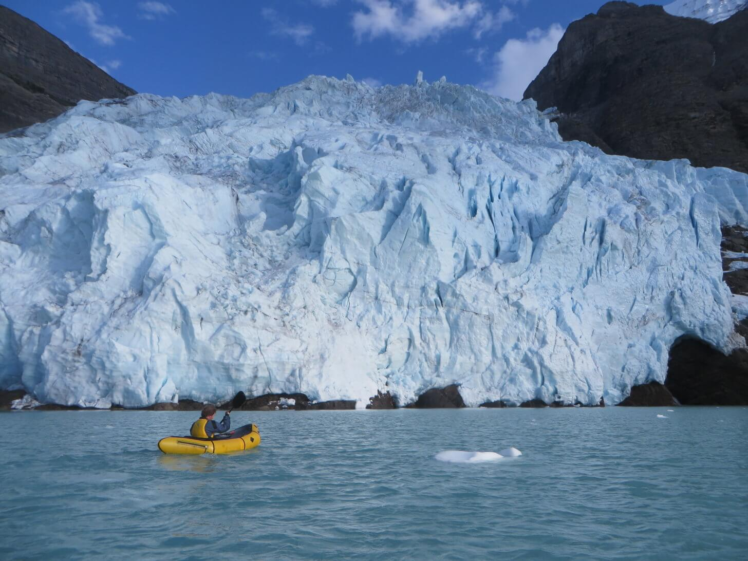Packraft SOM Report: Paddling up to a glacier in British Columbia.