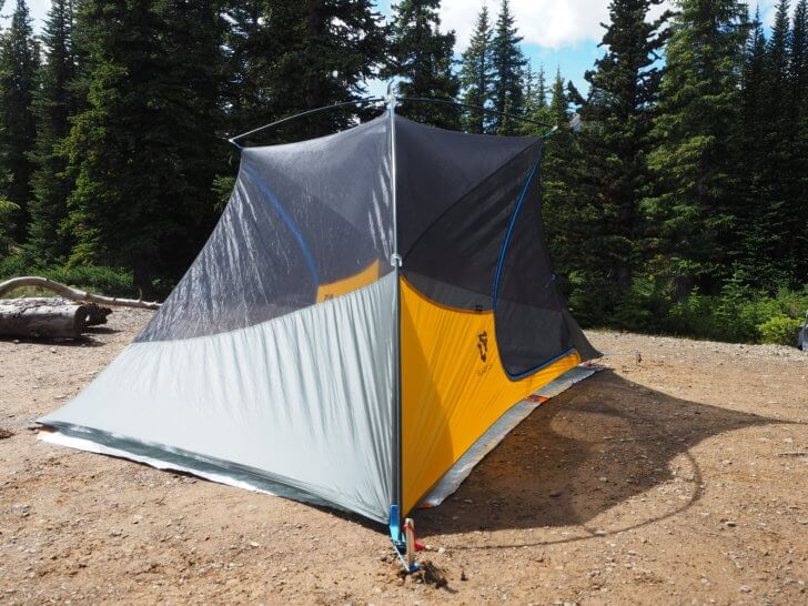 The shape of the Nemo Equipment Blaze 2P Tent is unconventional to say the least. Skyline Trail, Jasper, Alberta.