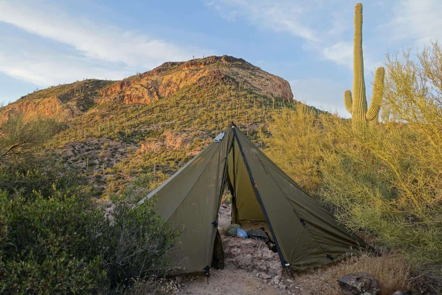 so-redcliff-1: The Seek Outside Redcliff shelter, seen here in Arizona's Superstition Wilderness.