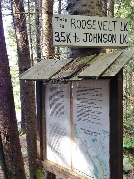 The charming hand painted signs add to the feeling of isolation and seclusion out on the trail.