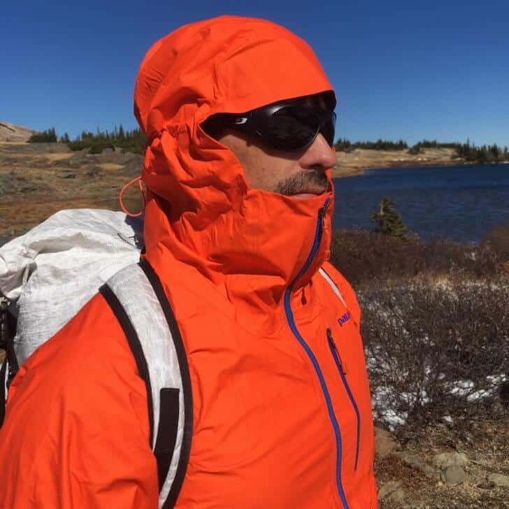 Patagonia M10 Anorak Review - hiking in Wyoming's Snowy Range.