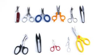 All scissors tested on white background