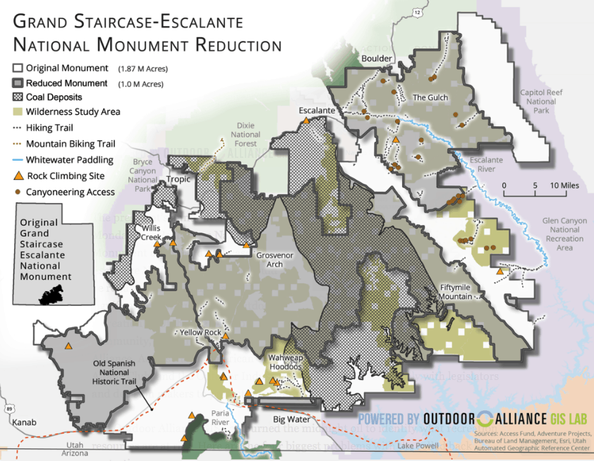 Grand Staircase Escalante Reduction Map