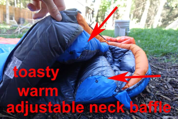 Patagonia 19 Degree Sleeping Bag Lark UL 0 neck baffle 728x485